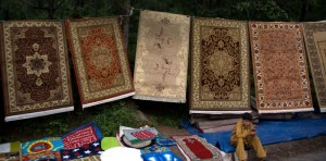 Carpets on the roadside